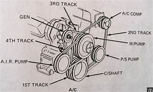 1984 Chevrolet Van Drivebelt Diagram  W   3 Drivebelts
