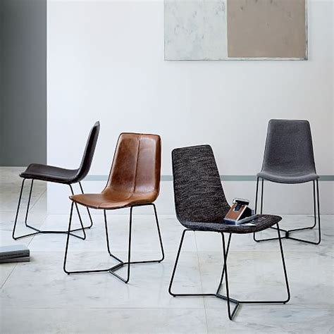 leather slope dining chair west elm