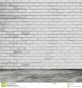 Mur Brique Blanc : int rieur blanc de mur de briques et de pi ce avec le b ton de plancher image stock image du ~ Mglfilm.com Idées de Décoration