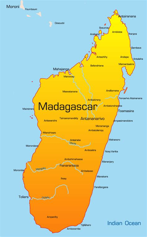 madagascar map showing attractions accommodation