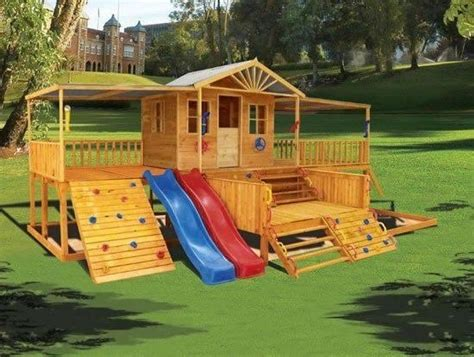 Backyard Playground Ideas - i like that there are flat areas where you can just sit
