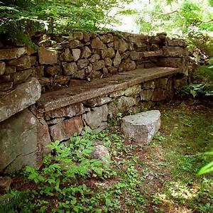Sitzbank Für Garten : 17 tolle ideen f r gartenmauer aus naturstein f r den garten ~ Articles-book.com Haus und Dekorationen