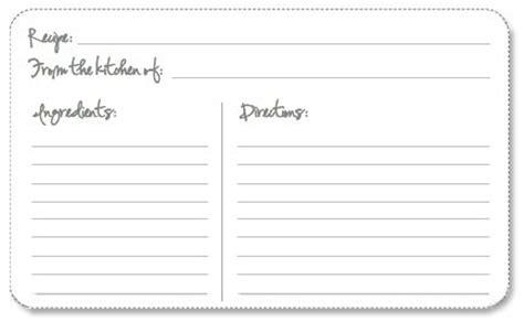 editable recipe cards  recipe card template
