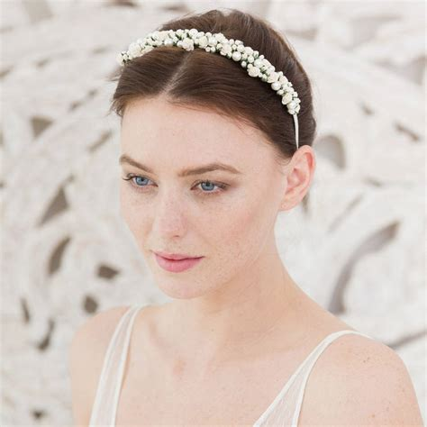 wedding headband rose  pearl  britten weddings