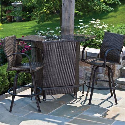 vento mezzo outdoor bar set patio furniture by alfresco