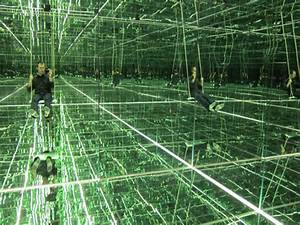 found bureau of betterment With swing to infinity inside thilo franks mirrored room