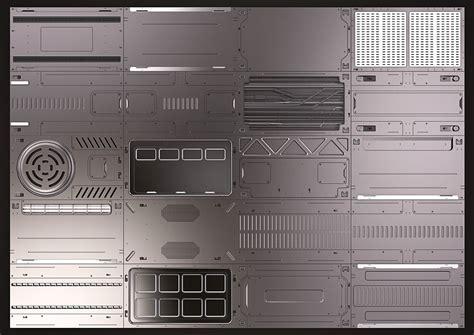 model sci fi panels kitbash turbosquid