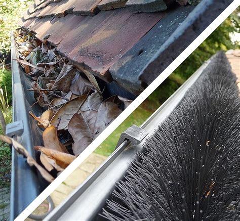 decorating with leaf guards 5 125mm hedgehog gutter brushes 4m black leaf gutter guard roofing superstore 174