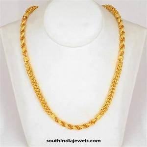 22K Gold Chain Design ~ South India Jewels