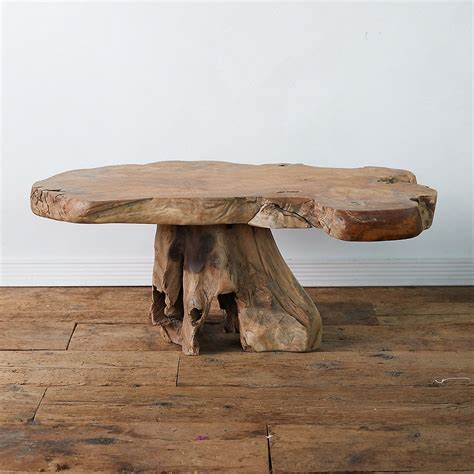 This beautiful teak root coffee table is crafted from teak root and features a clear glass surface, ideal to add charm in any home setting. Teak Root Coffee Table | Teak outdoor coffee table, Driftwood coffee table, Coffee table