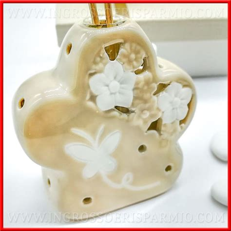bomboniere a forma di fiore profumatori per ambienti a forma di fiore ceramica tortora