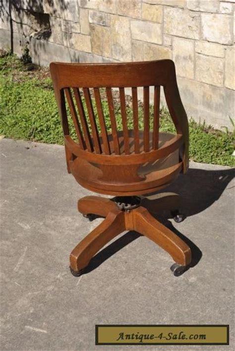antique wooden swivel desk chair vintage milwaukee chair co antique oak wood swivel desk