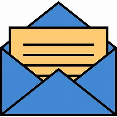 Envelope Mail Cartoon Letter Clipart Unsa Psd