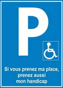 Handicap Parking Place Card
