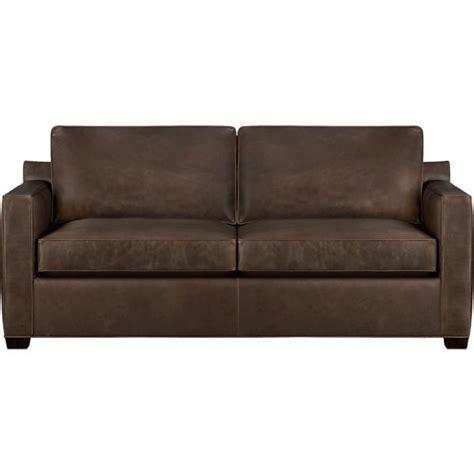davis leather sleeper sofa cashew crate and barrel