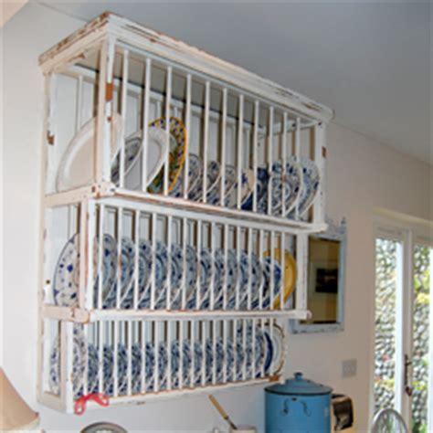 large painted  tier vintage plate rack
