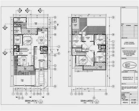 sketsa denah rumah sederhana rumah sederhana tapi elegan