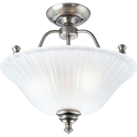 picture lighting home depot progress lighting renovations collection 3 light antique nickel semi flush mount light p3607 81