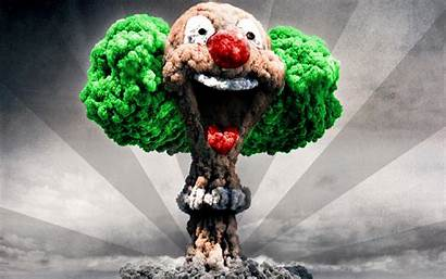 Clown Nuclear Explosions Wallpapers Clowns Digital Photomanipulations