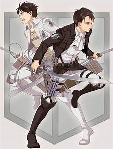 Eren x Levi (Attack on Titan) | SnK | Pinterest