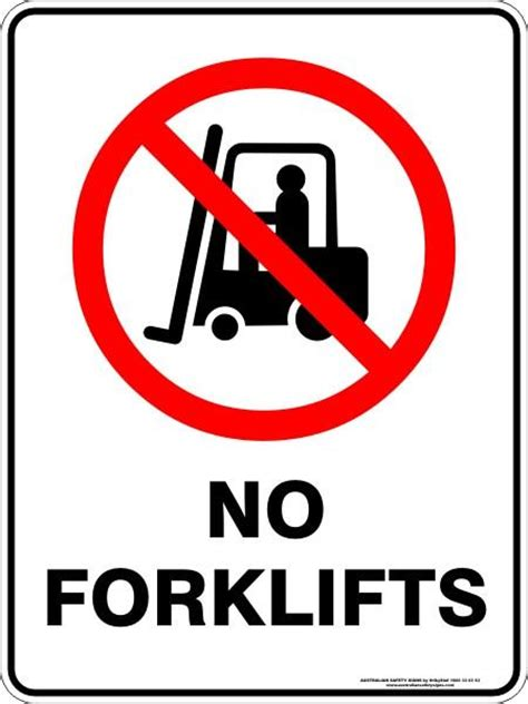 forklifts australian safety signs