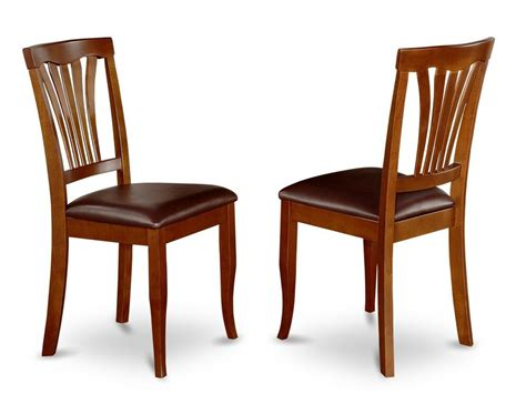 Kitchen Chairs by Set Of 2 Avon Dinette Kitchen Dining Chairs W Faux