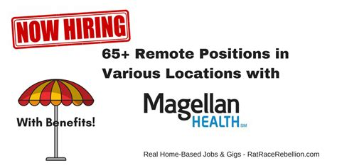 65+ Remote Jobs Open Now With Magellan Health, Benefits