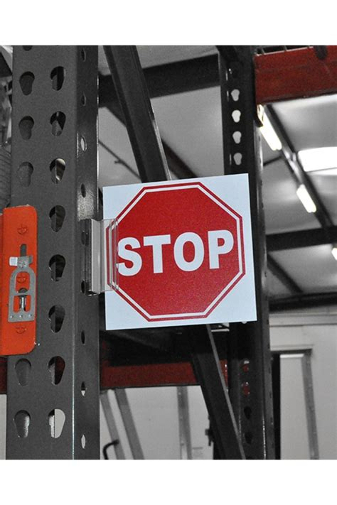 warehouse aisle stop signs