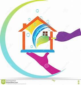 logo a la maison de service de nettoyage illustration de With toit de maison dessin 15 logo de peinture de maison illustration de vecteur image
