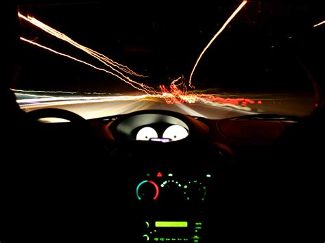 Night View From Cockpit Of The Car Wallpapers And Images