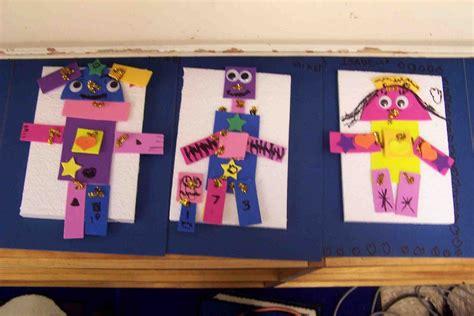 create art   kindergarten  shape robots
