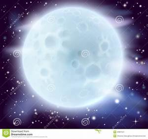 Big full moon stock vector. Image of fullmoon, outerspace ...