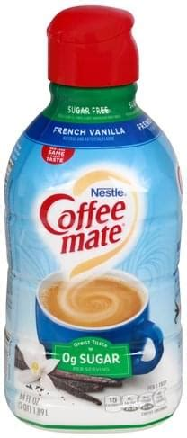 This sugar free coffee mate french vanilla creamer is a lactose. Coffee Mate Sugar Free, French Vanilla Coffee Creamer - 64 oz, Nutrition Information | Innit