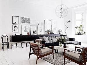 appealing apartment design cococozy With black and white chairs living room