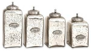 glass canisters for kitchen numbered mercury glass jars with lids set of 4 contemporary kitchen canisters and jars