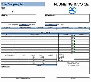 Free plumbing invoice template excel pdf word doc for Plumbing invoice examples