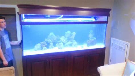 reef aquarium canopy lifted  electric linear actuator