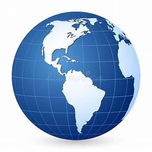 Globe Terrestre Carton : blauwe wereldbol 2 vector illustratie illustratie bestaande uit gebied 8362554 ~ Teatrodelosmanantiales.com Idées de Décoration