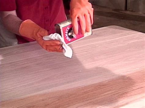 How To Refinish A Table   how tos   DIY