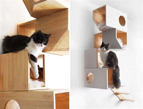 Modern Stylish Cat Furniture And Cat Stuff by Catissa Cat Tree Doubles As Stylish Wall 6sqft