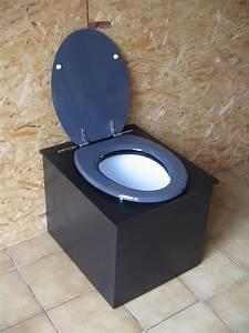 Seau Toilette Seche : fabulous toilettes seches funky 3 3 noir et gris ~ Premium-room.com Idées de Décoration