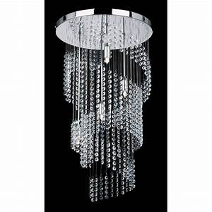 Endon light modern crystal chandelier spiral