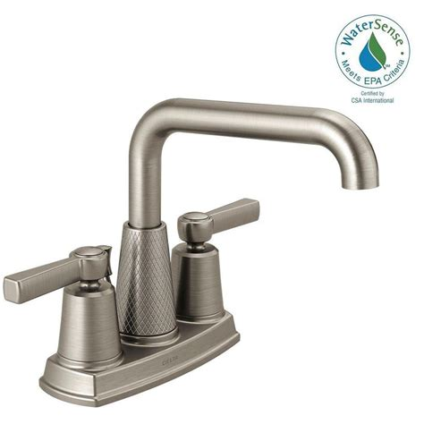 delta brushed nickel kitchen faucet delta allentown 4 in centerset 2 handle bathroom faucet