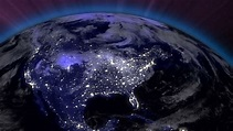 Earth from Space Lightstreaks Over Stock Footage Video ...