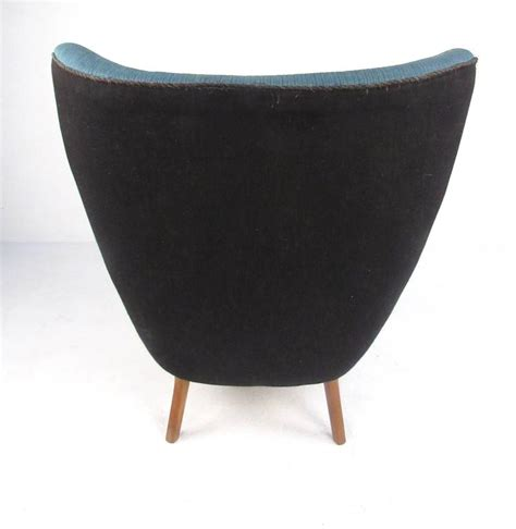 mid century modern wingback lounge chair by madsen and