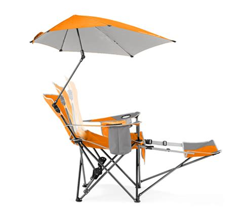 Cing Chair With Footrest And Umbrella by Sport Brella Recliner Chair Tailgating Ideas