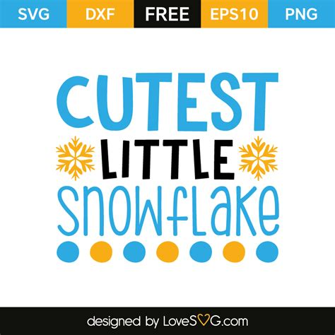 I layered them one on top of the other with dimensional adhesive and stuck a die cut sticker right in the center. Cuttest Little Snowflake | Lovesvg.com