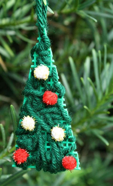 kid made christmas tree ornament fantastic fun learning