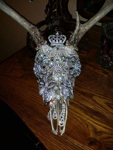 custom bling rhinestone brooch embellished deer
