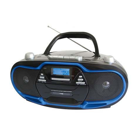 usb cd player portable mp3 cd player cassette recorder usb aux input am fm radio ac dc 110 220 ebay